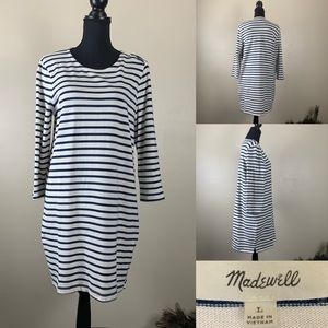 Madewell Dress Knit  Navy and White Striped
